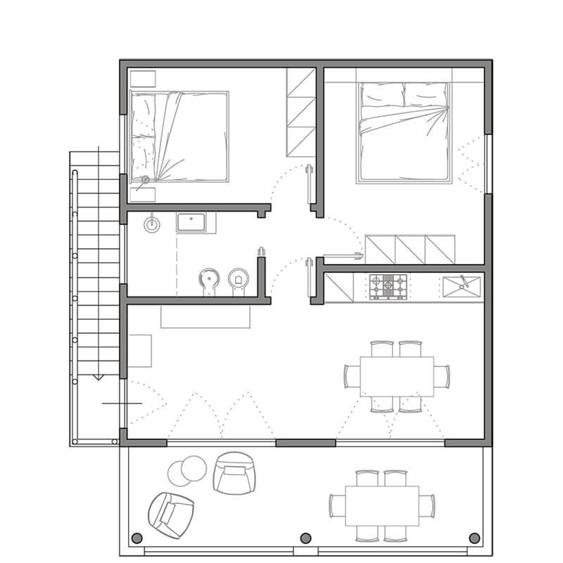 appartamento maisha marefu pianta piano primo1