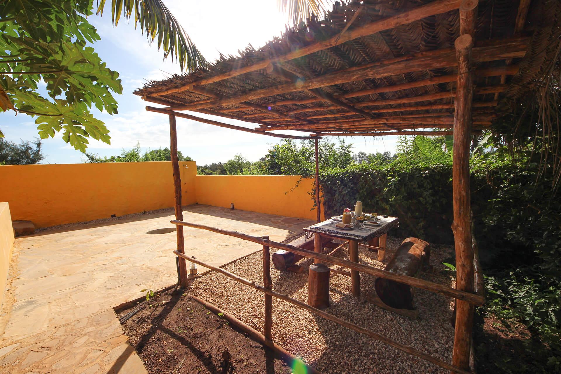 Appartamenti con gazebo Maisha Marefu a Kiwengwa Zanzibar