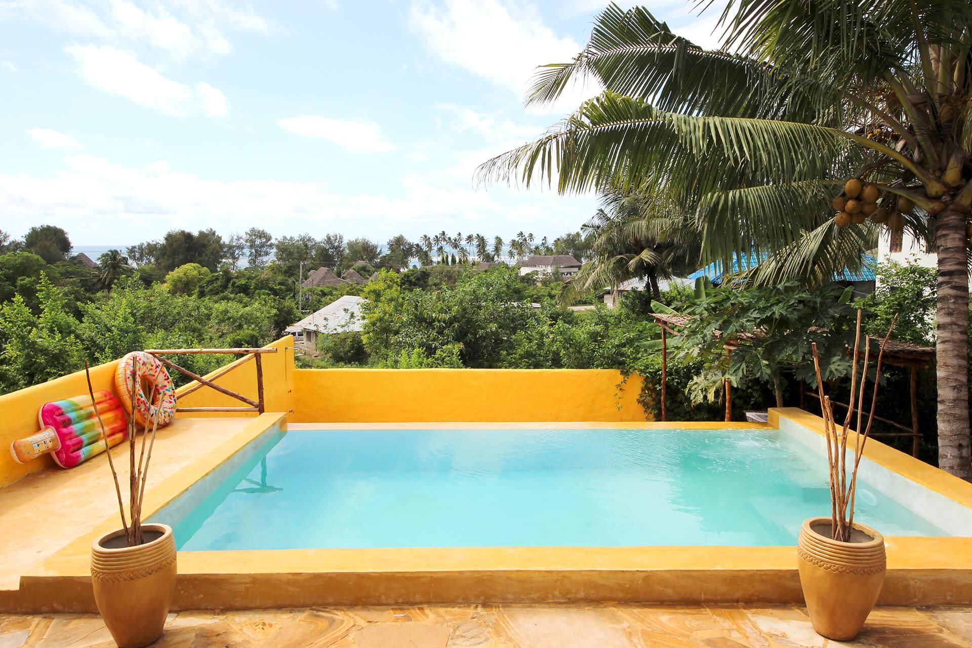 Appartamenti con piscina Maisha Marefu a Kiwengwa Zanzibar